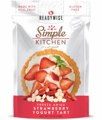Simple Kitchen Freeze-Dried Strawberry Yogurt Tart Perspective: front
