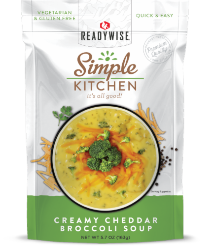 Simple Kitchen Creamy Cheddar Broccoli Soup Perspective: front