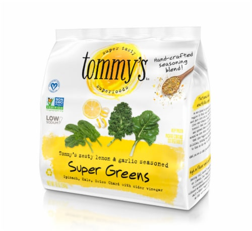 Tommy's Superfoods Seasoned Super Greens Perspective: front