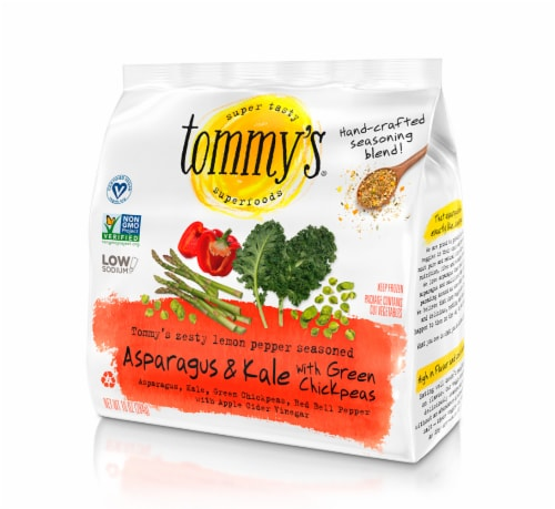 Tommy's Superfoods Seasoned Asparagus & Kale Perspective: front