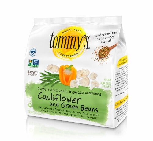 Tommy's Superfoods Seasoned Cauliflower and Green Beans Perspective: front