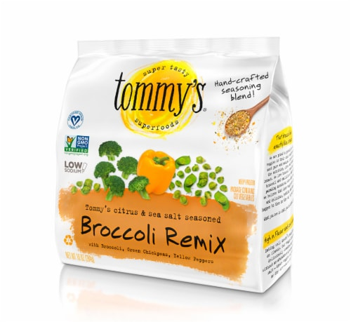 Tommy's Superfoods Seasoned Broccoli Remix Perspective: front