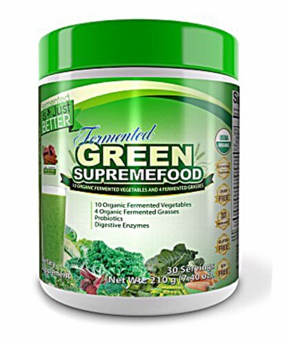 Divine Health  Fermented Green Supremefood Perspective: front