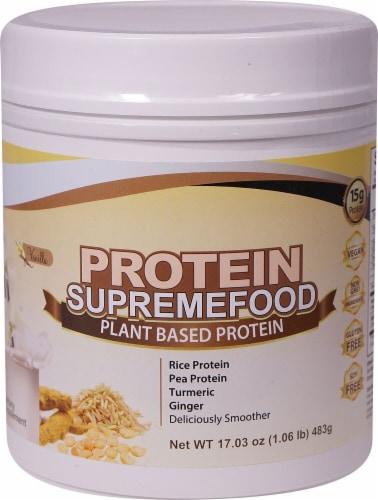 Divine Health  Protein Supremefood   Vanilla Perspective: front