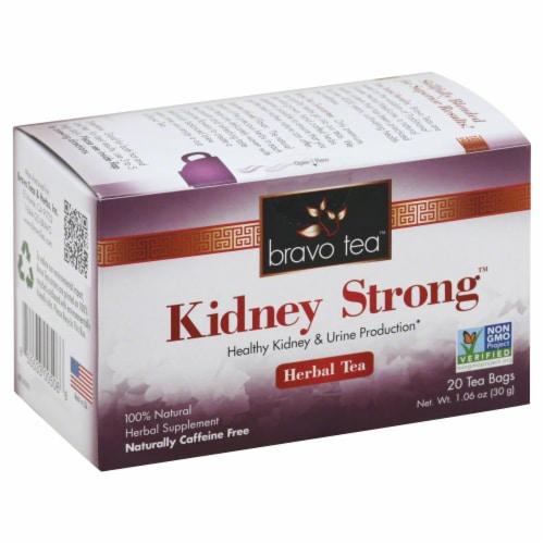 Bravo Tea Kidney Strong Herbal Tea Perspective: front