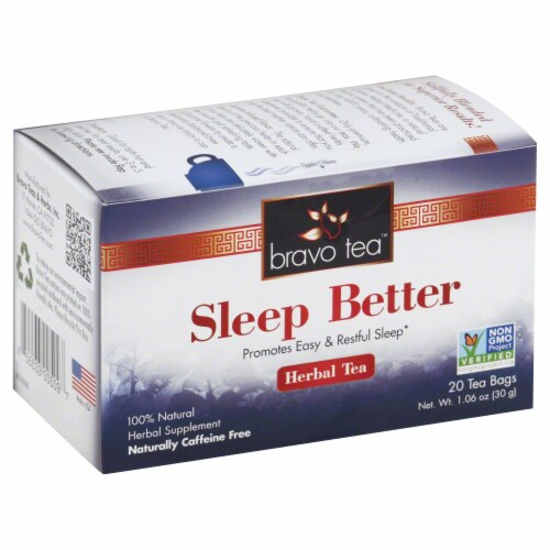 Bravo Tea Sleep Better Herbal Tea Perspective: front
