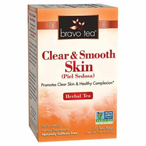 Bravo Teas and Herbs - Tea - Clear and Smooth Skin - 20 Bag Perspective: front