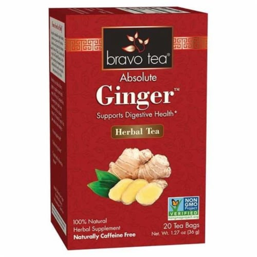 Bravo Teas and Herbs - Tea - Absolute Ginger - 20 Bag Perspective: front