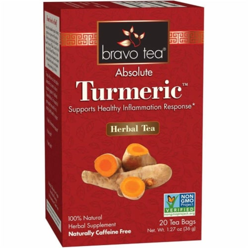 Bravo Teas and Herbs - Tea - Absolute Tumeric - 20 Bag Perspective: front