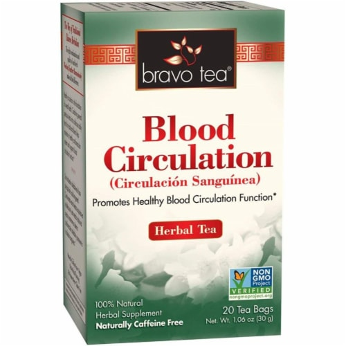 Bravo Teas and Herbs - Tea - Blood Circulation - 20 Bag Perspective: front