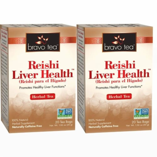 Bravo Teas and Herbs - Tea - Reishi Liver Health - 10/6 Bag Perspective: front