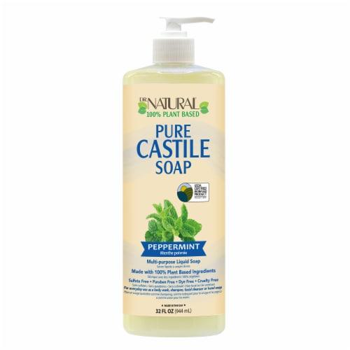Dr. Natural Peppermint Castile Soap Perspective: front