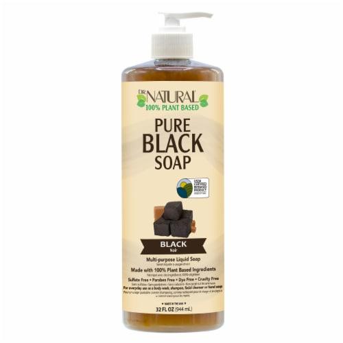 Dr. Natural Pure Black Soap 32 Fl Oz Perspective: front