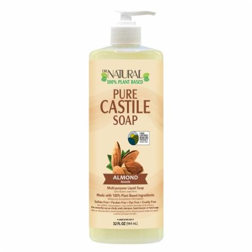 Dr. Natural Almond Castile Soap 32 Fl Oz Perspective: front
