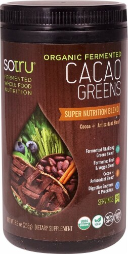 SoTru  Organic Fermented CacaoGreens Perspective: front