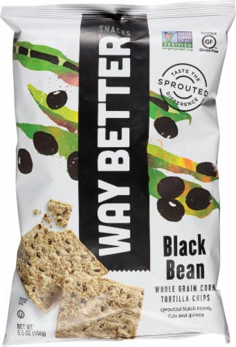 Way Better Snacks Black Bean Tortilla Chips Perspective: front