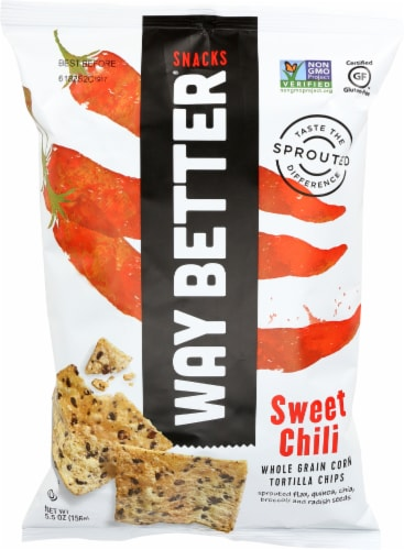 Way Better Snacks Sweet Chili Tortilla Chips Perspective: front