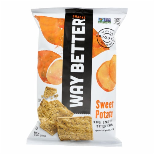 Way Better Snacks Tortilla Chips - Sweet Potato - Case of 12 - 5.5 oz. Perspective: front