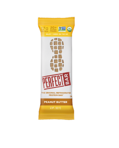 Perfect Bar Peanut Butter Protein Bar Perspective: front