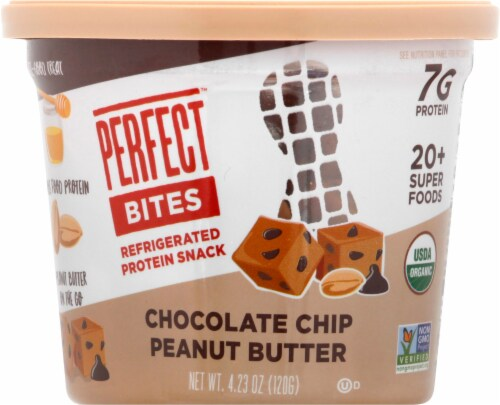 Perfect Bar Chocolate Chip Peanut Butter Perfect Protein Bites Perspective: front