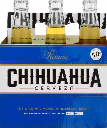 Chihuahua Cerveza Primero Lager Perspective: front