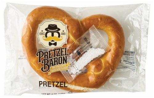 Pretzel Baron Soft Pretzel with Salt Pack Perspective: front