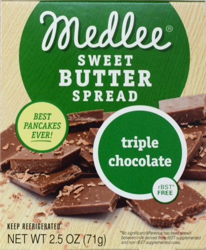 Medlee Foods Triple Chocolate Sweet Butter Spread Perspective: front