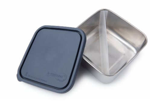 U-Konserve Divided To-Go Large Stainless Steel Container - Ocean Perspective: front