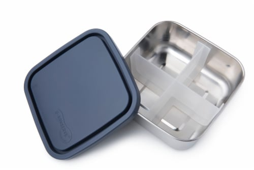 U-Konserve Divided To-Go Medium Stainless Steel Container - Ocean Perspective: front