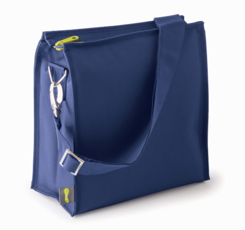 U Konserve Insulated Lunch Tote - Navy Perspective: front