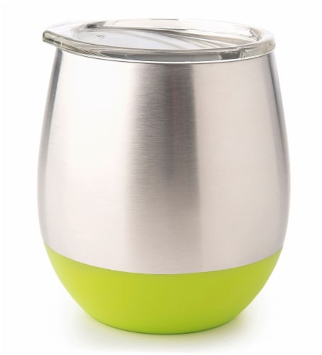 U Konserve Insulated Stainless Steel Tumbler - Lime Perspective: front