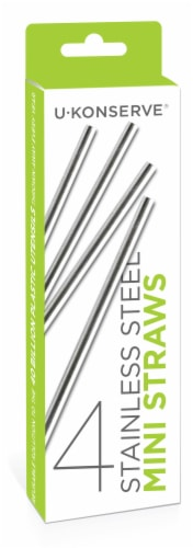 U Konserve® Stainless Steel Mini Straws Perspective: front