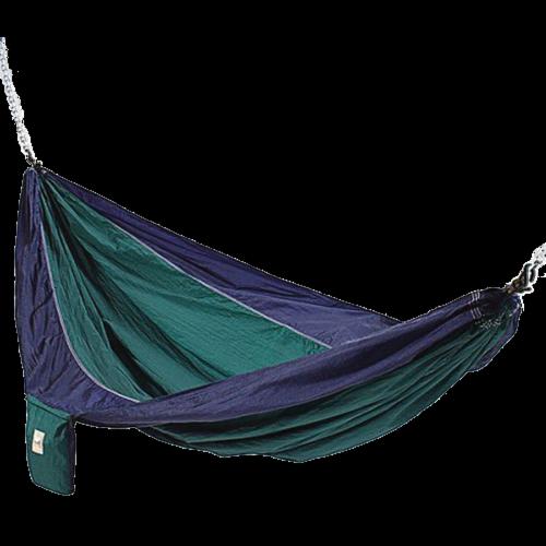 Blue And Green Hammaka Parachute Silk Hammock Perspective: front