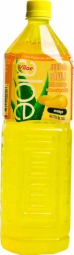 Viloe Mango Flavored Aloe Vera Juice Drink Perspective: front