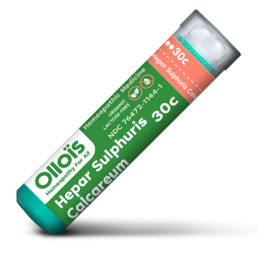 Ollois Hepar Sulphuris Calcareum 30C Homeopathic Medicine Perspective: front