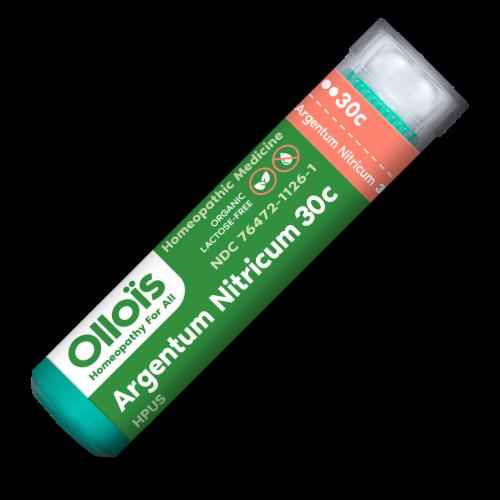 Ollois Argentum Nitricum 30C Organic Homeopathic Medicine Perspective: front