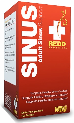 Redd Remedies Adult Sinus Support Tablets Perspective: front