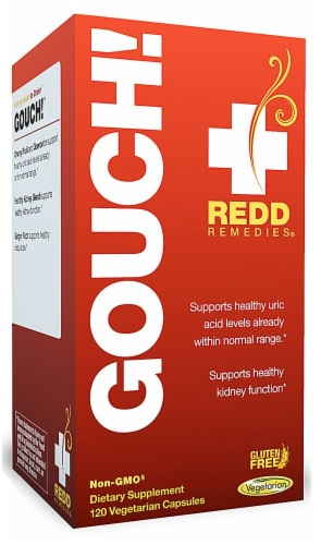 Redd Remedies Gouch! Vegetarian Capsules Perspective: front