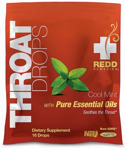 Redd Remedies  Throat Drops   Cool Mint Perspective: front