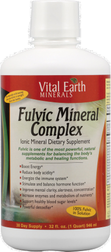 Vital Earth Fulvic Mineral Complex Perspective: front