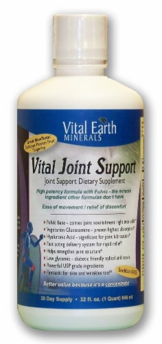 Vital Earth Minerals Passion Fruit Tangerine Flavored Vital Joint Support Supplement Perspective: front