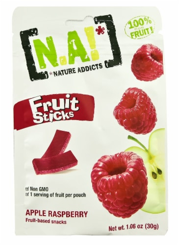 Nature Addicts Apple Raspberry Fruit Sticks Perspective: front