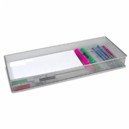 YBM Home 1611 Mesh Drawer Organizers Silver 15 x 6 Inch Perspective: front