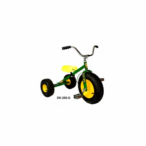 Dirt King DK-250-G Child Tricycle, Green Perspective: front