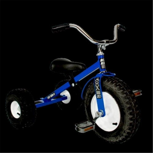 Dirt King DK-250-TB Child Tricycle, Blue Perspective: front