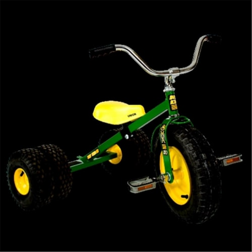 Dirt King DK-251-DG Child Dually Tricycle, Green Perspective: front