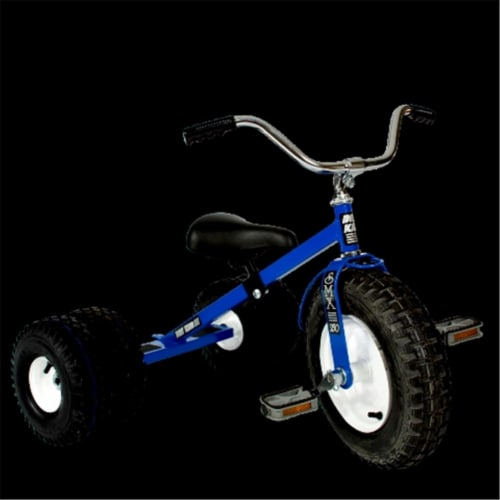 Dirt King DK-251-DTB Child Dually Tricycle, Blue Perspective: front