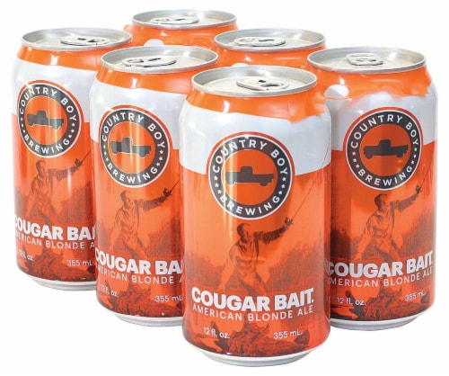 Country Boy Brewing Cougar Bait American Blonde Ale Perspective: front