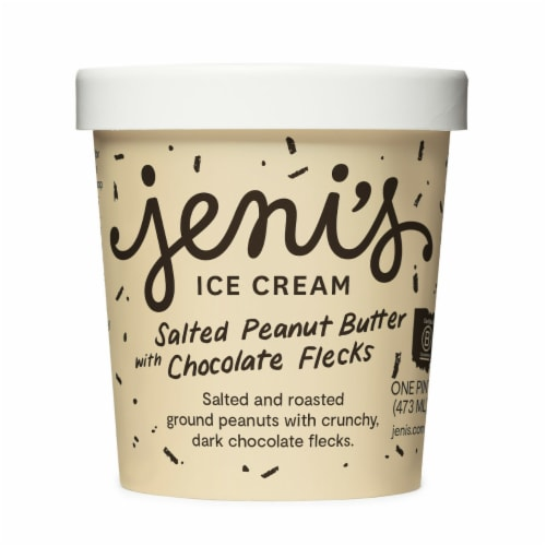 Jenis Ice Cream Salted Peanut Butter with Chocolate Flecks Perspective: front