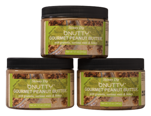 GOURMET PEANUT BUTTER- SKINNY DIP   3 PACK Perspective: front
